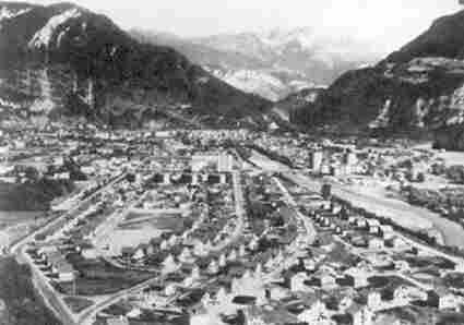 View of Cluses in 1950